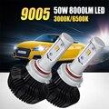 Oslamp 9005 hb3 llevó la linterna del coche 50 w 8000lm luz blanca amarilla 3000 K 6500 K CSP Virutas Auto Del Led Luz de Niebla Del Faro Bombillas 12 v 24 v