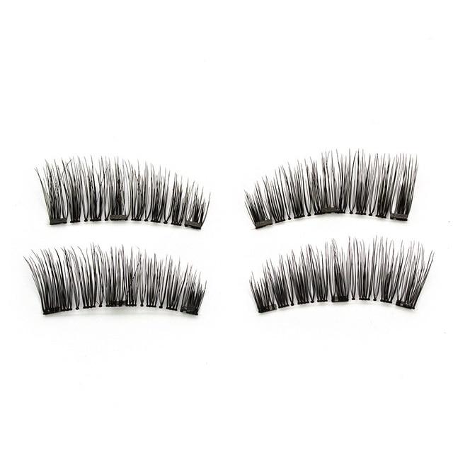2 pairs of 4 handmade magnet eyelashes natural magnetic eyelashes mink eyelashes eyelash tools natural eyelashes,eyelash makeup 2