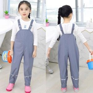 Image 3 - Rains chłopięce spodnie PU wodoodporne spodnie dziewczęce żółty niebieski Outdoor odzież dziecięca kombinezon narciarski dla dzieci kombinezon 18 M 6 T lat