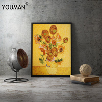 Embroidery frame Painting Poster Art Wallpaper For Office,Meeting Room Cuadros Hand embroidery Posters Prints Canvas Unframed