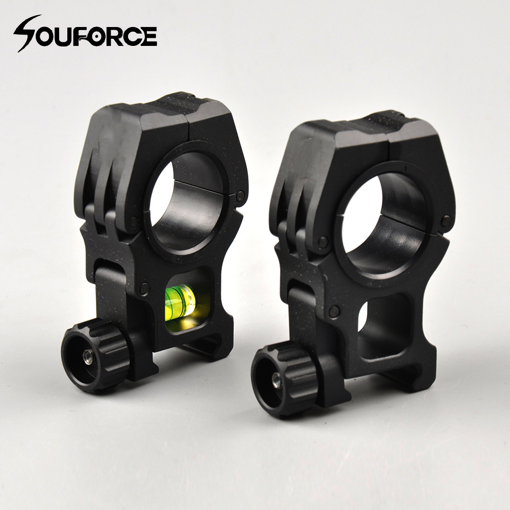 Ring Suppo 25.4/30mm Ring 20mm Picatinny Weaver Scope Mount&Bubble Level Mount Air Soft Gun Rifle Scope Ring Support for Hunting