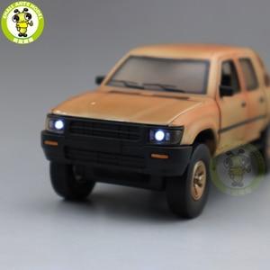 Image 3 - 1/32 Jackiekim Hilux Pick up Truck with Anti tank Gun Diecast Metal Model CAR Toys kids children Sound Lighting gifts