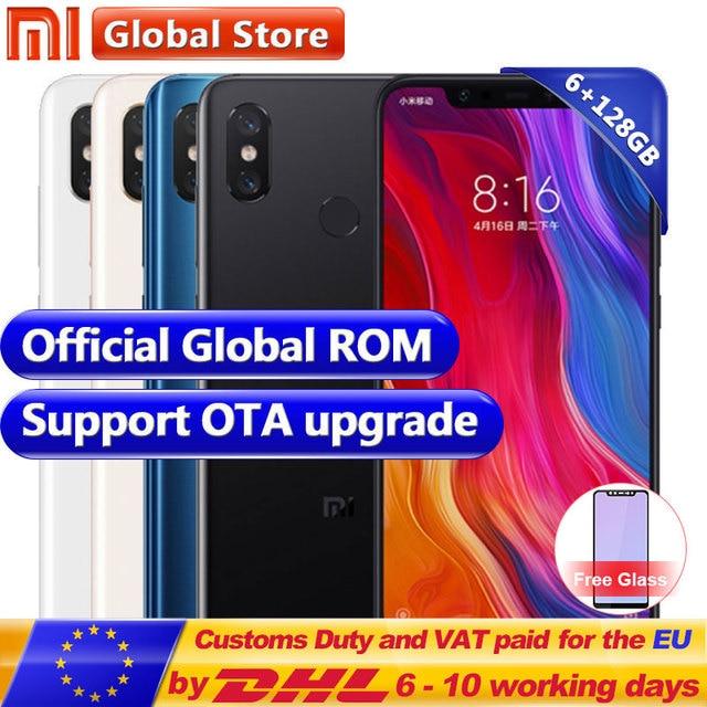 "Xiaomi Mi 8 Mi8 6GB 128GB telephone Snapdragon 845 Octa Core 6.21"" 18.7:9 Full Screen AI dual camera 12.0MP+20.0MP smartphone"