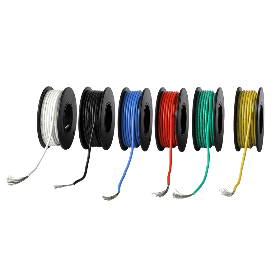 157ft Электрический провод UL3132 26AWG Луженая Медь многожильный провод мягкий силиконовый изолятор-60 ℃ до 150 ℃ 300V 6 видов цветов