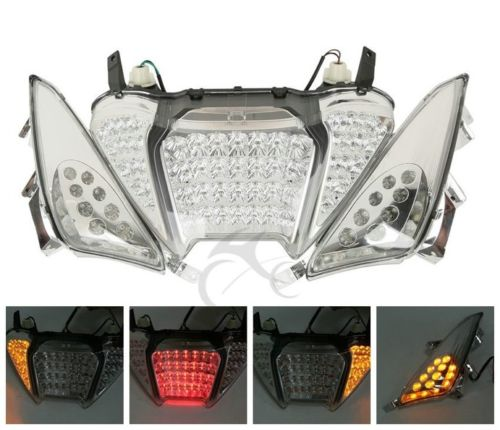 Motorcycle LED Rear Brake Tail Light Turn Signals Integrated For Yamaha TMAX 500 2008-2011 biostal nb 1000p c