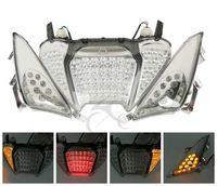 Motorcycle LED Rear Brake Tail Light Turn Signals Integrated For Yamaha TMAX 500 2008 2011