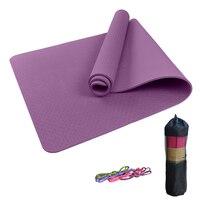 fb0de5caa Yoga Beginner 6mm 8mm Eco Tasteless Yoga Mat Solid Color TPE Fitness  Pilates Floor Workout Pads