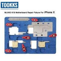 Versão atualizada K19 Reparação Motherboard PCB Titular Jig Fixação Para iPhone X A11 CPU Nand Chip Reparação Plataforma com Stencil|Conjuntos ferramenta manual| |  -