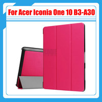 Ultra Slim 3 Fold Flip Stand PU Leather Skin Magnetic Cover Case For Acer Iconia One