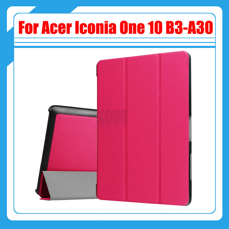 Ultra Slim 3-Fold Flip Stand PU Leather Skin Magnetic Cover Case For Acer Iconia One 10 B3-A30 B3 A30 10.1'' Tablet + Stylus