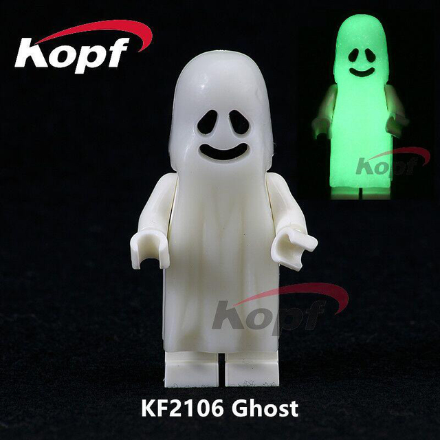 US $0 75 |Single Sale The Horror Theme Movie Halloween Moonlight Glow Ghost  Sally Zombie Bricks Building Blocks Children Gift Toys KF2106-in Blocks