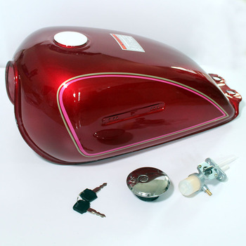 8L Motorcycle Red Color Vintage Cafe Racer Gas Fuel Tank Oil Box For SUZUKI GN250 GN 250 All Year Universal