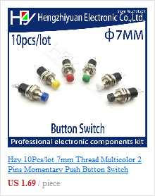 Blue 24VDC 2pcs 16mm Self Reset Momentary Push Button Switch in Metal 5 Pin Waterproof Flat Round Switch with LED and Digit 5