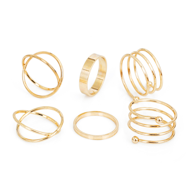IPARAM 2016 Hot unique set of rings punk fist gold rings for women ring finger 6