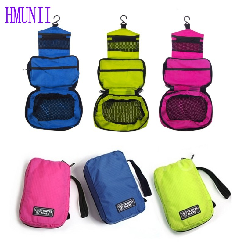 Hot Portable Travel Women Cosmetic Bag Organizer Womens Beautician Makeup Bag Hanging Toiletry Bag цена