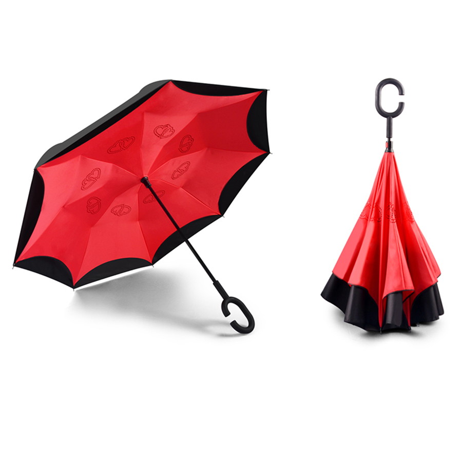 Outdoor Patio Umbrella Inverted Folding Women Color Umbrellas Wind Resistant UV Umbrella ...