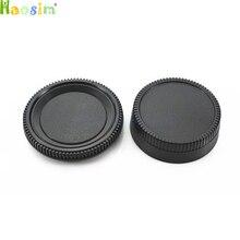 10 pares/lote tampa do corpo da câmera + tampa da lente traseira para nikon slr/dslr câmera