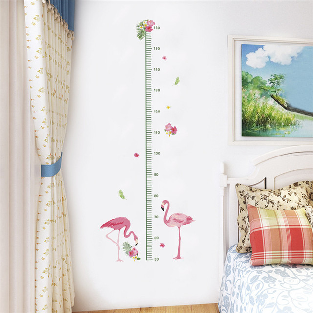 Flamingo Height Measure Stickers Kids Growth Chart Decal Self