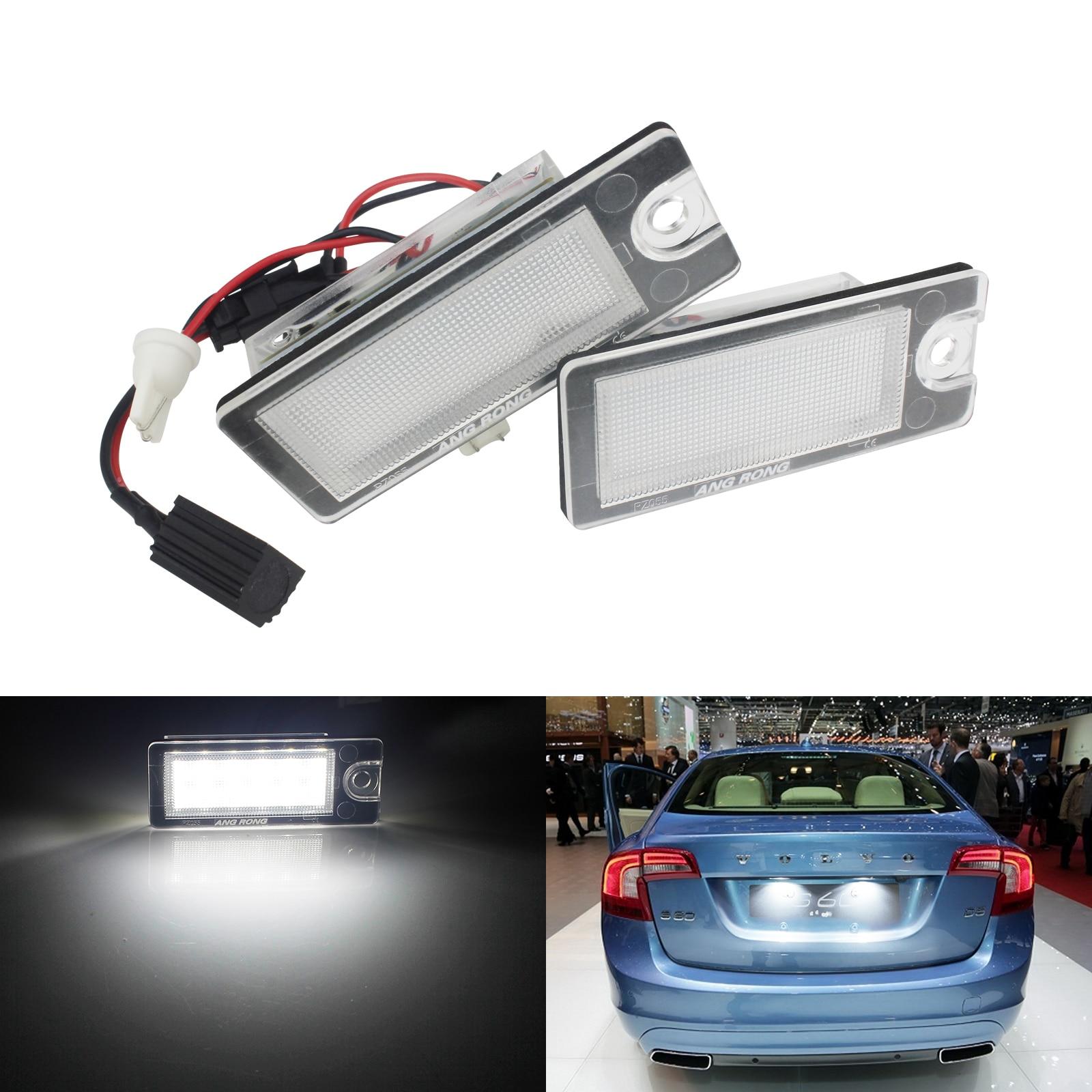 2x Volvo XC70 MK2 Bright Xenon White LED Number Plate Upgrade Light Bulbs