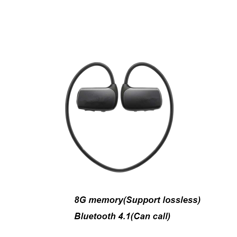 Latest popular sports wireless Bluetooth wireless headset MP3 player WS615 8G treadmill Mp3 music player headset