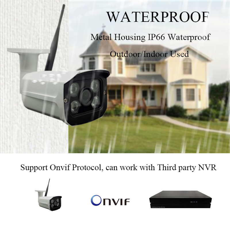 Image 2 - HD 1080P WiFi IP Camera Wireless Onvif 720P CCTV Camera Home Security Surveillance Micro SD Card Slot Outdoor Waterproof Camera-in Surveillance Cameras from Security & Protection
