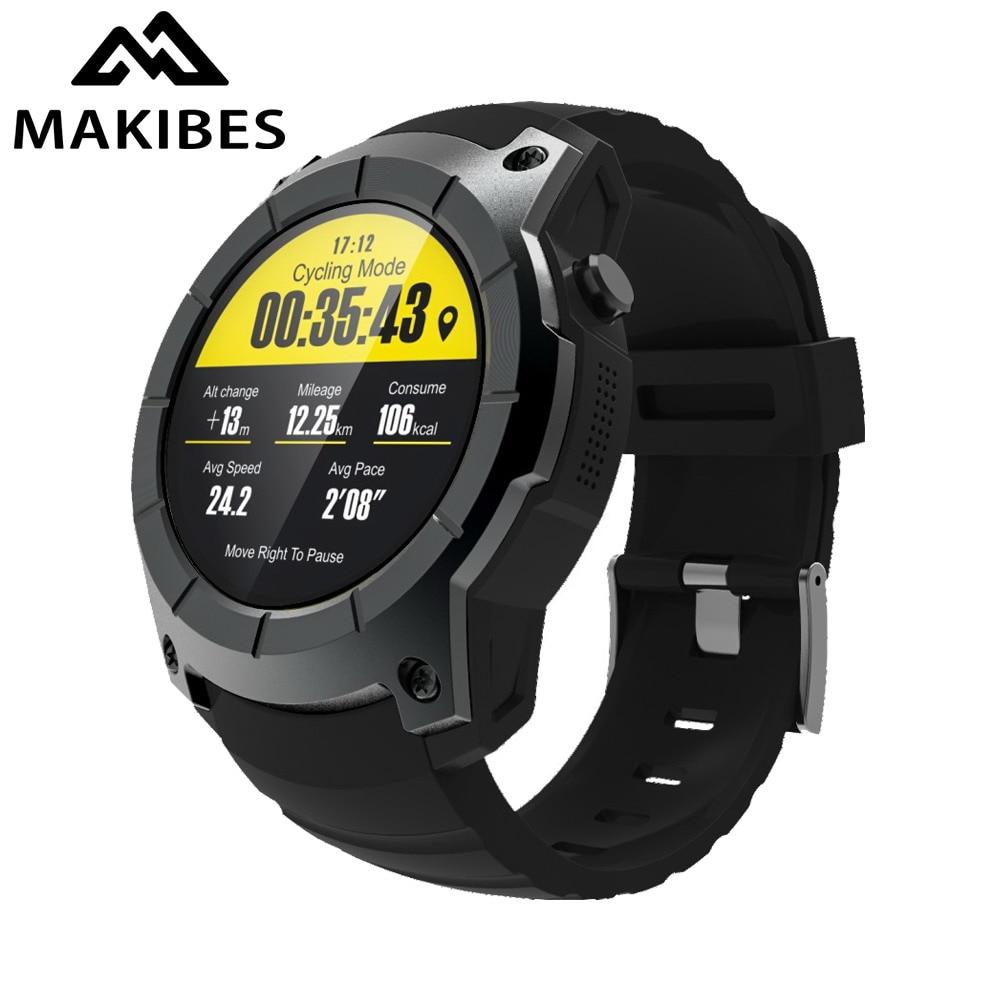 19c83034bc33 Makibes G05 GPS reloj deportivo MTK2503 reloj inteligente multi deporte  smartwatch Monitor de ritmo cardíaco llamada respuesta relojes para Android  IOS en ...