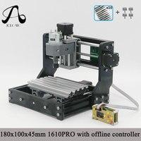 CNC 1610 PRO GRBL Diy мини ЧПУ с форума Управление, 3 оси печатных плат фрезерный станок, дерево Маршрутизатор рабочей зоны 16*10 см