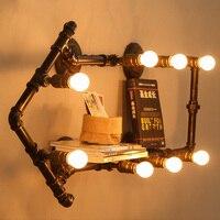 [] Чердачная труба настенная лампа Эксклюзив ретро промышленного исследования украшения для гардероба лампа настенная лампа