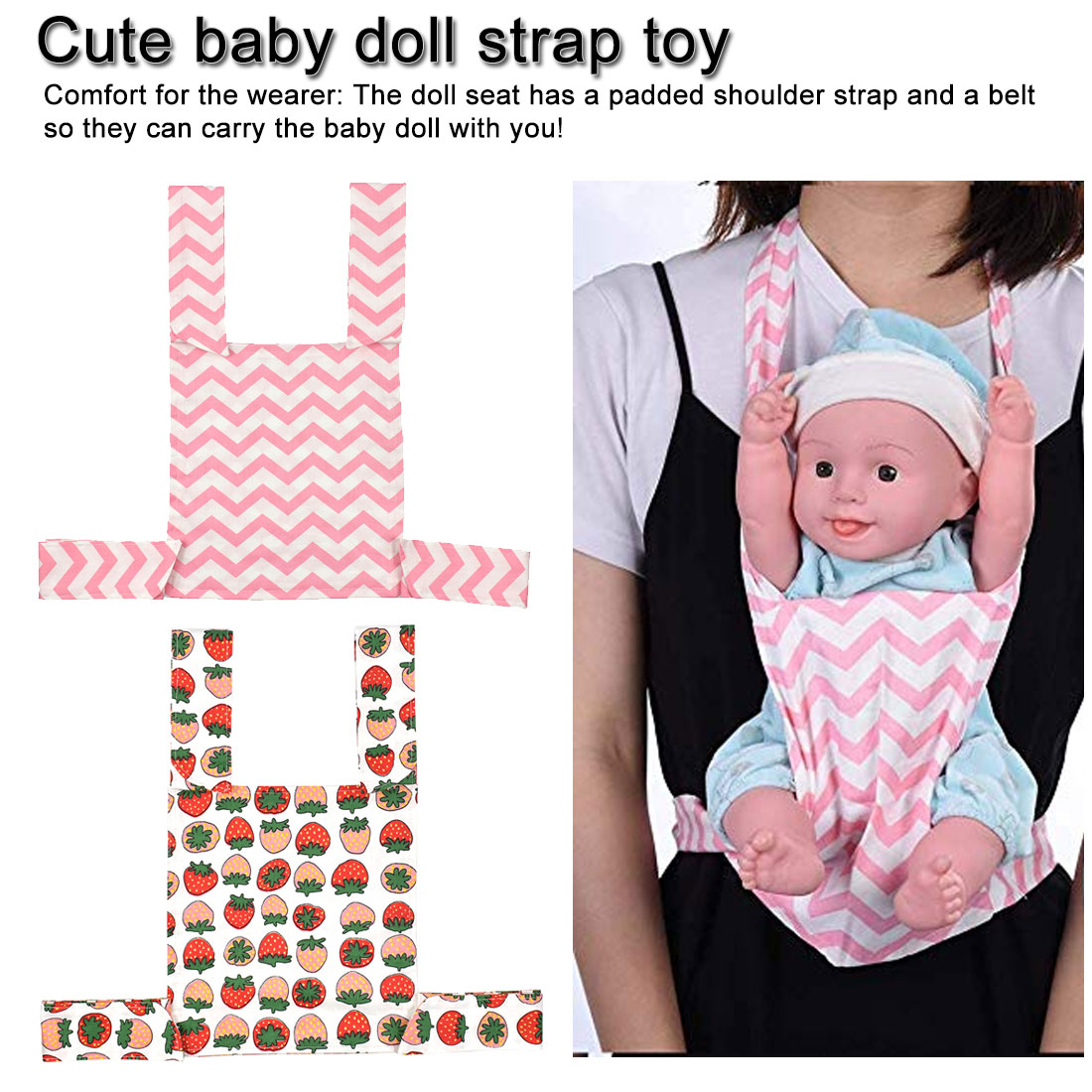 Cute Baby Doll Carrier Sling Toy For Kids Children  Front Back Carrier 2019 New Cartoon Animal Toddler
