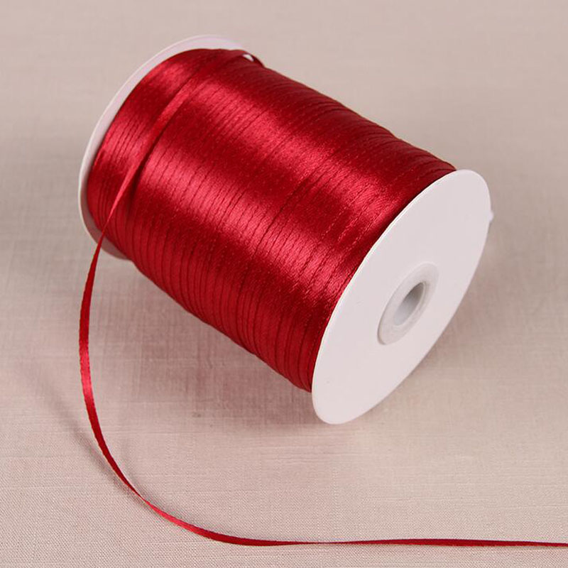 "1//8/"" Rich Red Wine Craft Sew Knit Narrow Double-sided Ribbon 10 metres 3mm"
