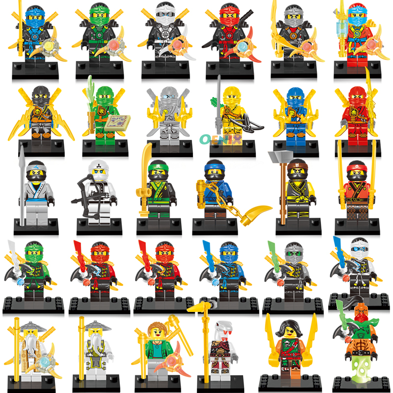 Ninja Kai Cole Jay Zane Lloyd Nya blocs de construction figurines ensemble enfants jouet cadeau Compatible avec lavant Ninjago Ninja pour enfants cadeaux