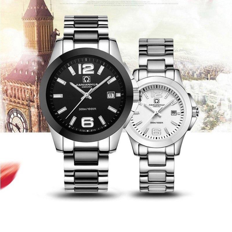 Mode perle céramique Couple montre carnaval nouveau haut de gamme quartz montre calendrier HD lumineux étanche Couple montres pour les amoureux