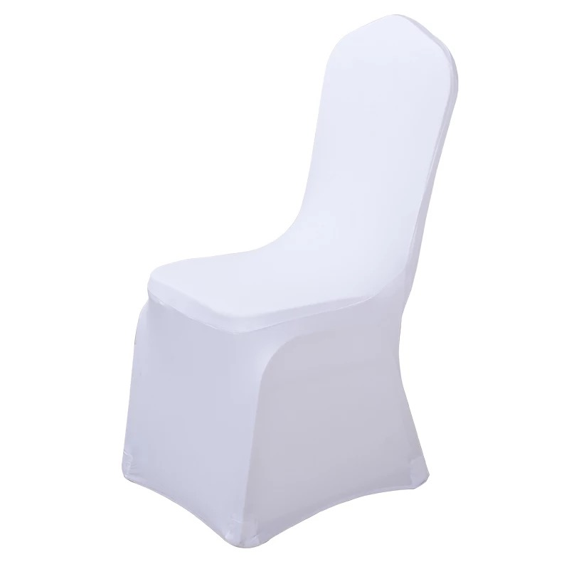 chair cover White Covers for Reataurant Banquet Hotel Dining Party Lycra Polyester Spandex outdoor 10 pcs 25 pcs 50 pcs 100pcs