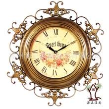 25 дюйм(ов) ов) большие настенные часы классический европейский стиль Сад Кованые часы Ретро антикварные модные тихие часы домашний декор