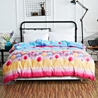 王クイーン布団キルトカバーシンプルなと寛大な快適で柔らかい色葉印刷パターンソファ/飛行機/ベッドトリッ
