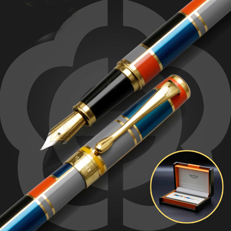 High Quality Iraurita Fountain pen 0.5mm Full Metal Golden Clip luxury pens Caneta Stationery Office school supplies 03861 jinhao fountain pen unique design high quality dragon pens luxury business gift school office supplies send father friend 002