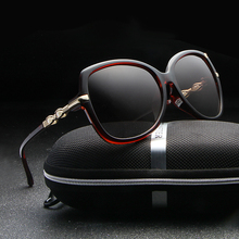 HDCRAFTER Women Polarized Sunglasses Retro Big Round Sunglasses Women Mirror UV400 Brand Designer Sun Glasses with Pearl