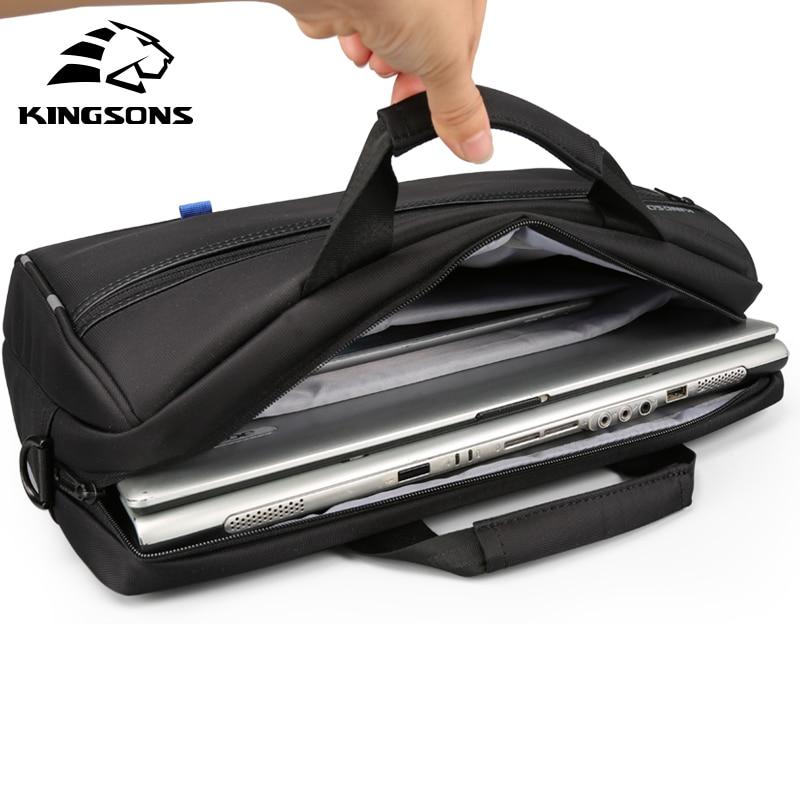 Kingsons sac à main hommes dans sacs à bandoulière pour hommes en Nylon décontracté sac à bandoulière Messenger 15.6 pouces noir - 5