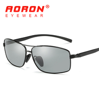 AORON Photochromic Sunglasses Men Polarized Discoloration Goggles Male Anti Glare HD Driving Glasses 2017 Brand Designer