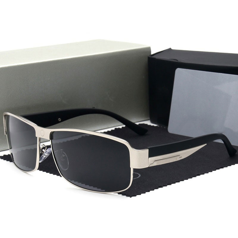 Mode a logo lunettes de Soleil Hommes lunettes de Soleil Polarisées Mercede Conduite Miroirs Points Cadre Lunettes Mâle Lunettes de Soleil UV400 748