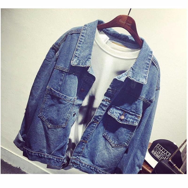 Women Jean Jacket Hot Sale Casual Popular Autumn Regular Coat Korea Girls Loose Outwear Simple Fashion Women\'s Clothing Cheap (1)