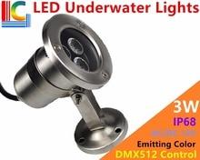 3W LED underwater lights outdoor waterproof Landscape lighting Fountain Spotlights swimming pool Flood pond lamps