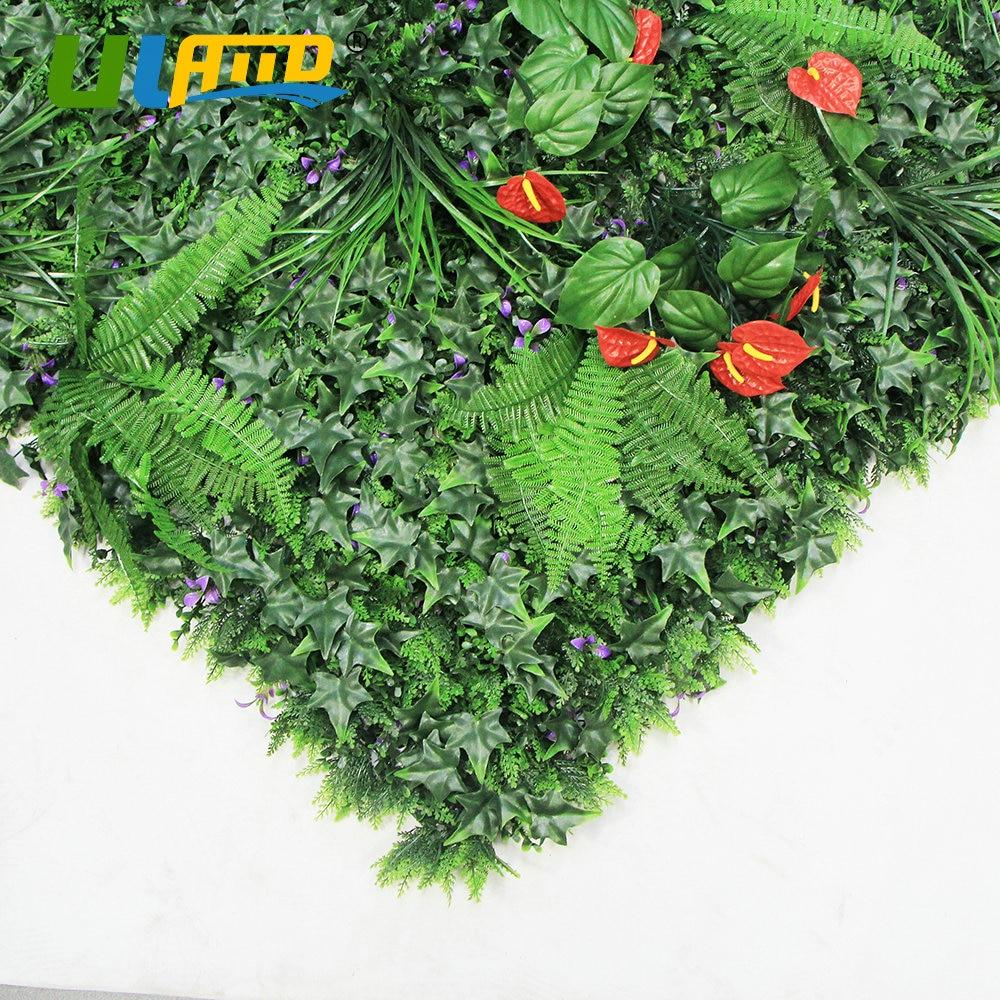 ULAND 1 m² Künstliche Buchsbaum Pflanzen Zaun Kunststoff Laub