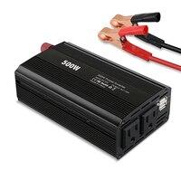 500W Modified Sine Wave Inverter DC12V To AC220V Auto Power Inverter High Converting Efficiency Daul USB