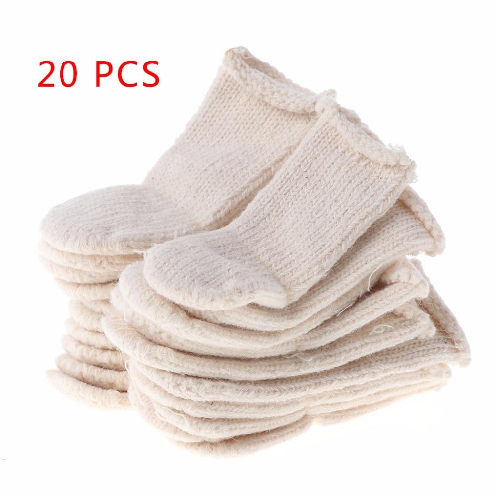 Cotton Finger Guards Cots Avoid Protection Prints Clean Polish Craft Tool 20Pcs