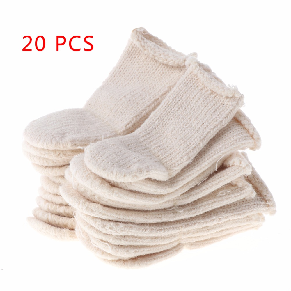 Free Shipping Cotton Finger Guards Cots Avoid Protection Prints Clean Polish Craft Tool 20Pcs
