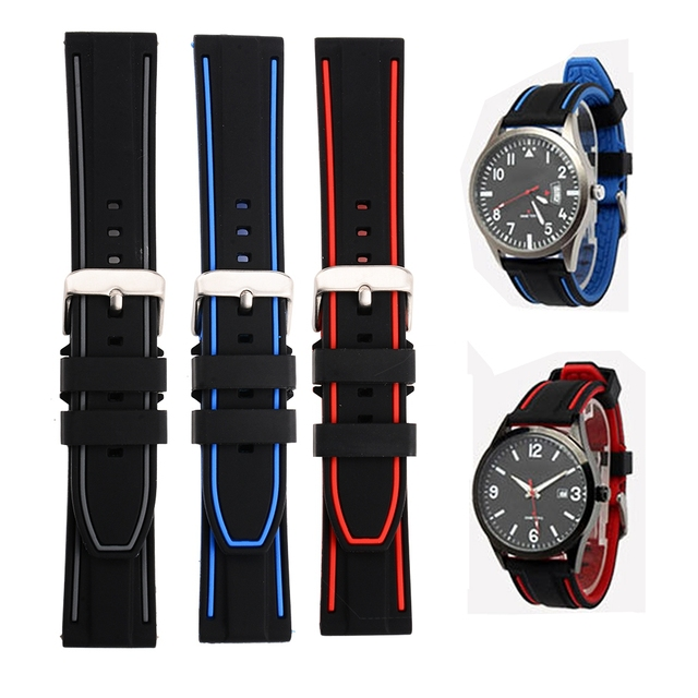 promo code c6241 454b5 US $3.51 5% OFF 20/22/24/26mm Universal Replace Watch Band For Samsung Gear  S3 Strap Waterproof TPU band for Huami Amazfit Bip Pace Stratos 2/2S-in ...