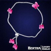 Butterfly Bracelets Bangles Genuine Crystal From Swarovski Temperament Bracelet Femme For Women Best Friends Christmas Gift