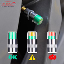 Tire Pressure Monitor Valve Stem Cap Sensor Indicator 32 Psi 2 2 Bar Air Warning Alert Valve Pressure Diagnostic Tools Kit tanie tanio 2 3cm Stainless steel 12 v Car Tyre Tire Pressure Monitor Indicator Valve Stem Cap xo27-2