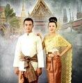 Таиланд Лаос Свадебные мужчины и женщины одежда коллокации студия фото свадебный Платок платье костюм Большие промежности брюки вуаль Мантильи